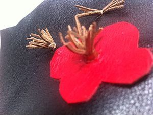 Изготовление серединки для кожаного цветка (тычинки). Ярмарка Мастеров - ручная работа, handmade.