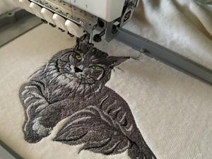 Женщина и кошка. Ярмарка Мастеров - ручная работа, handmade.