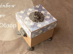 Обзор коробки для ниток в винтажном стиле в формате видео. Ярмарка Мастеров - ручная работа, handmade.