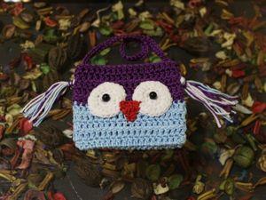 Видео мастер-класс для начинающих: вяжем сумочку «Сова». Ярмарка Мастеров - ручная работа, handmade.