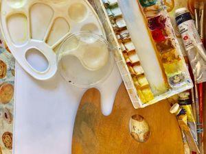 Обзор палитр для масляной краски. Ярмарка Мастеров - ручная работа, handmade.