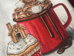 Готова вышивка  «Зимний десерт». Ярмарка Мастеров - ручная работа, handmade.