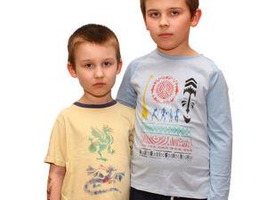 Рисуем на футболках с помощью фломастеров-блопенов по ткани вместе с детьми. Часть 1. Ярмарка Мастеров - ручная работа, handmade.