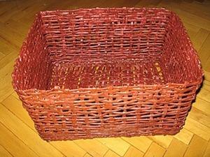 Плетем корзину из бумаги. Ярмарка Мастеров - ручная работа, handmade.