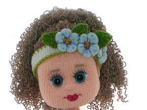 Вышиваем губки вязаной куколке. Ярмарка Мастеров - ручная работа, handmade.