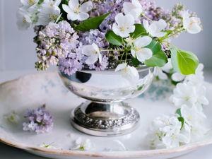 Винтажный посеребренный роузбоул для срезанных цветов Lanthe Англия. Ярмарка Мастеров - ручная работа, handmade.