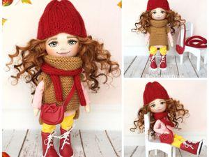 Первая осенняя куколка! Продана, возможен повтор. Ярмарка Мастеров - ручная работа, handmade.
