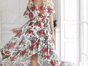 Видео-ролик, платье  «Хоровод цветов». Ярмарка Мастеров - ручная работа, handmade.
