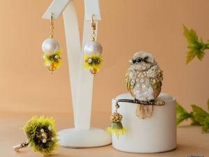 Комплект  «Пробуждение природы»  Брошь+серьги+кольцо. Дополнительные фото. Ярмарка Мастеров - ручная работа, handmade.