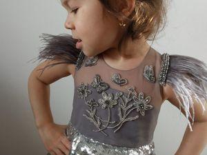 Детское платье с вышивкой — работа моей ученицы по курсу  «Фламинго». Ярмарка Мастеров - ручная работа, handmade.