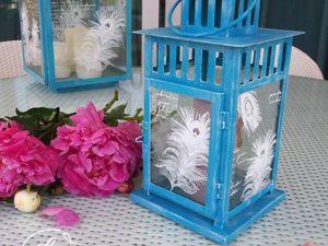 Видео мастер-класс: декорируем садовый фонарь меловыми красками. Ярмарка Мастеров - ручная работа, handmade.