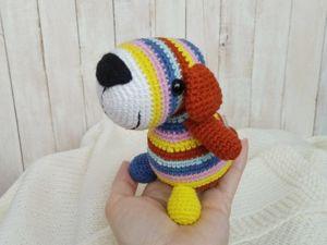 Собачка вязаная крючком. Ярмарка Мастеров - ручная работа, handmade.