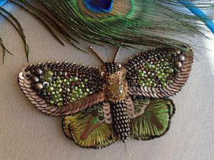 Вышиваем бисером элегантную бабочку. Часть первая. Ярмарка Мастеров - ручная работа, handmade.