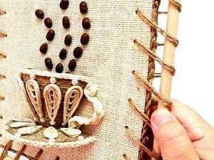 Делаем очаровательное панно на стену из джута своими руками. Ярмарка Мастеров - ручная работа, handmade.