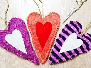 """Делаем текстильную елочную игрушку """"Сердце"""". Ярмарка Мастеров - ручная работа, handmade."""