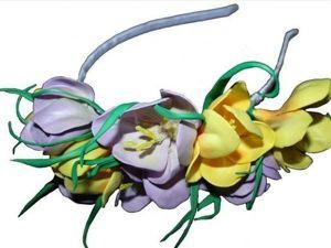 Как сделать крокусы из фоамирана: видеоурок. Ярмарка Мастеров - ручная работа, handmade.