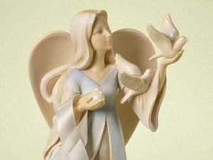 Cute Angels by Ceramist Karen Hahn. Livemaster - handmade
