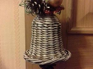 Мастер-класс: плетём колокольчик из газетных трубочек. Ярмарка Мастеров - ручная работа, handmade.