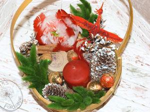 Создаем цветы из перьев: пион в рождественских тонах. Ярмарка Мастеров - ручная работа, handmade.