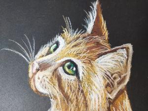 Рисуем кошку пастелью. Говорим о бумаге для пастели. Ярмарка Мастеров - ручная работа, handmade.