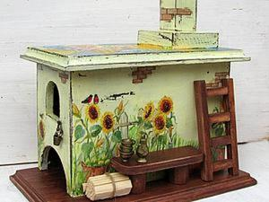 """Мастер-класс: печка-""""домик"""" для чайных пакетиков. Ярмарка Мастеров - ручная работа, handmade."""