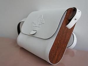 """Мастер-класс: сумка из дерева и кожи """"Белый шоколад"""". Ярмарка Мастеров - ручная работа, handmade."""