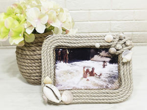 Making Photo Frame of Cardboard and Jute. Livemaster - handmade