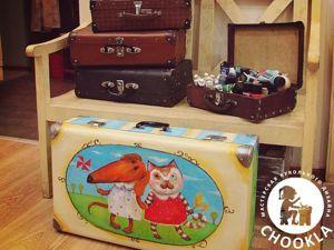 Декорируем старый чемодан. Ярмарка Мастеров - ручная работа, handmade.