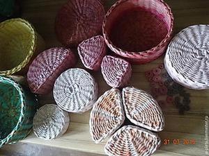 Плетем веселые коробочки из бумажной лозы. Часть вторая. Ярмарка Мастеров - ручная работа, handmade.