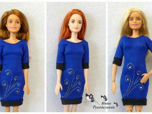 Как сшить классическое платье для куклы Барби. Ярмарка Мастеров - ручная работа, handmade.