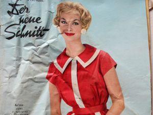Der Neuer Schnitt — старый немецкий журнал мод -6/1958. Ярмарка Мастеров - ручная работа, handmade.