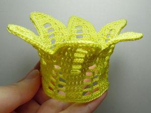 Вяжем крючком корону для новогоднего костюма (видео). Ярмарка Мастеров - ручная работа, handmade.
