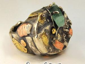 Кольцо  «Скала». Ярмарка Мастеров - ручная работа, handmade.