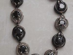 Видео Браслет серебро необработанные бриллианты муассаниты. Ярмарка Мастеров - ручная работа, handmade.