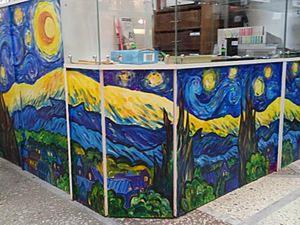 Расписываем стол в стиле «Звездной ночи» Ван Гога. Ярмарка Мастеров - ручная работа, handmade.
