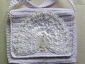 """Делаем оригинальный элемент для аппликации  """"Белый павлин"""". Ярмарка Мастеров - ручная работа, handmade."""