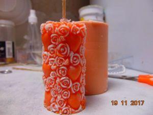Мастер-класс по заливке свечи «Столбик» 3D №1. Ярмарка Мастеров - ручная работа, handmade.