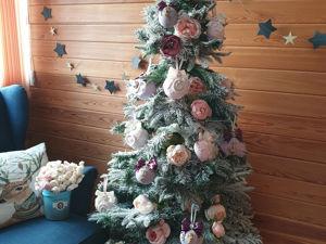 Елка наряженная шарами из моего магазина . Пример оформления елки!. Ярмарка Мастеров - ручная работа, handmade.