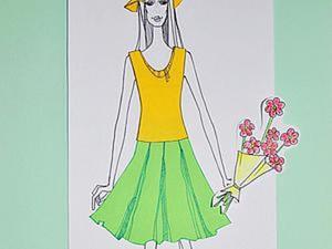 Делаем сами «игру в модельера» для дочки. Ярмарка Мастеров - ручная работа, handmade.