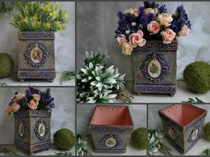 Короб для цветов с нуля. Ярмарка Мастеров - ручная работа, handmade.
