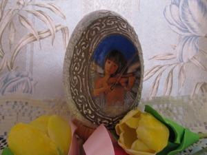 """Создаем пасхальное яйцо с медальонами """"Пробуждение Ангела"""". Ярмарка Мастеров - ручная работа, handmade."""