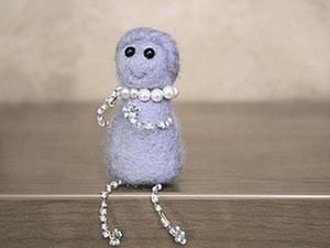 Делаем куколку из войлока. Ярмарка Мастеров - ручная работа, handmade.