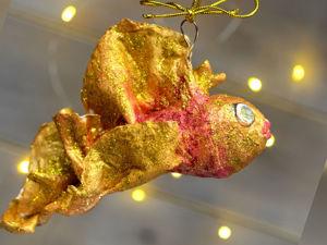 Делаем ватную игрушку Золотая рыбка. Часть 1/2. Ярмарка Мастеров - ручная работа, handmade.