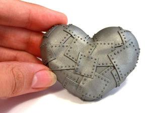 Видео мастер-класс: брутальное «Железное сердце» из полимерной глины. Ярмарка Мастеров - ручная работа, handmade.