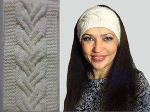 Видео мастер-класс: вяжем повязку на голову спицами. Ярмарка Мастеров - ручная работа, handmade.
