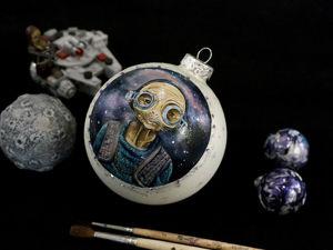 Рисуем Маз Каната портрет на елочном шаре вселенная Звездных Войн. Ярмарка Мастеров - ручная работа, handmade.