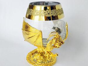 Бокал для коньяка  «Дракон» . Златоуст z10818. Ярмарка Мастеров - ручная работа, handmade.