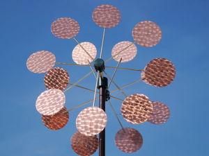 Кинетическая ветряная скульптура двойная Мельница-Цветок. Ярмарка Мастеров - ручная работа, handmade.