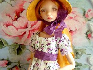 Как сделать шляпку-капор для куколки. Ярмарка Мастеров - ручная работа, handmade.