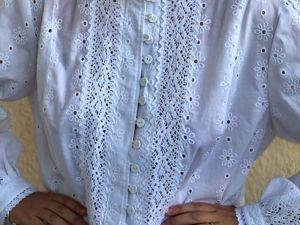Блуза-рубашка белая нарядная Анастасия. Ярмарка Мастеров - ручная работа, handmade.